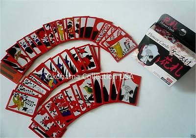 Japanese Hanafuda Flower Playing Cards Game Set 1 Deck 48 Pieces W/Plastic Case