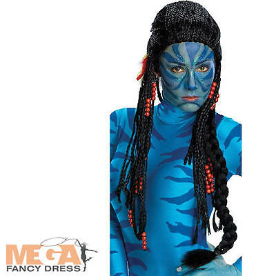 Avatar Neytiri Long Wig Fancy Dress Movie Costume Ladies Wig Accessory - Deluxe