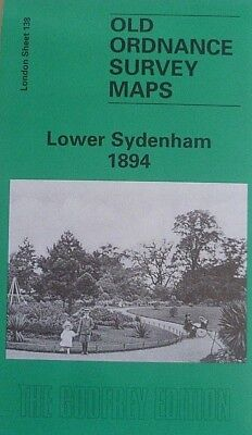 Old Ordnance Survey Detailed Maps Lower Sydenham London 1894 Godfrey Edition New