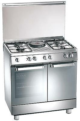 Gas cooker 80x50, 4 burners, 1 electric plate, electric oven - Tecnogas D881XS