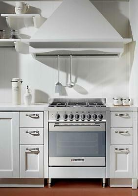 Gas cooker 70x60 cm, 5 burners, gas oven - Tecnogas Heavy Duty PTV762XS