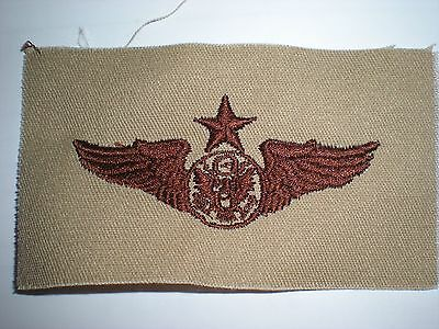 Usaf Senior Enlisted Aircrew Embroidered Wings - Desert