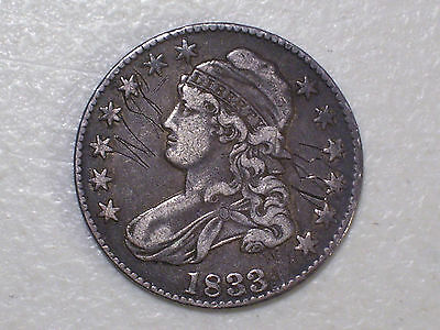 Us 1833 Capped Bust Half Dollar Coin, Xf Silver