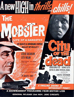 MOBSTER 1958 Roger Corman CITY OF THE DEAD Christopher Lee TRADE ADVERT