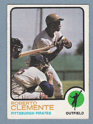 VINTAGE 1973 Topps ROBERTO CLEMENTE #50 NO CREASES VERY NICE CARD RARE