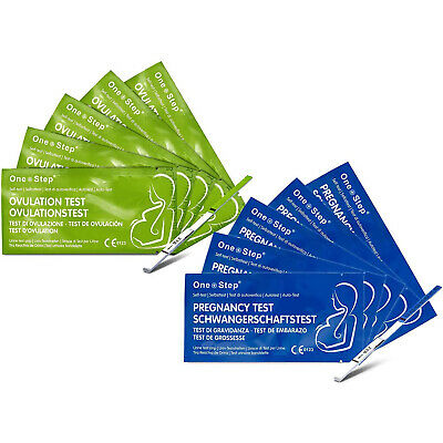 One Step® 50 Ovulation - Fertility Tests + 10 Pregnancy Home Urine Test Kits