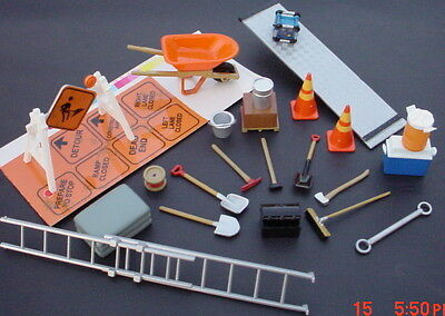 26 Pc Construction Set 1/24 G Scale Diorama Items