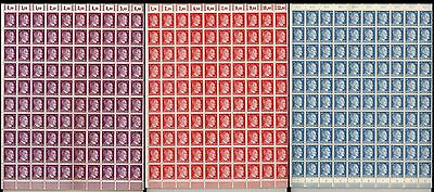 Stamp Germany 3 Sheet Lot 1941 WWII 3rd Reich Nazi Adolf Hitler AH MNH