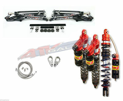 Houser +2.25 A-Arms Elka Stage 3 Long Travel Front Rear Shocks Suspension Kit