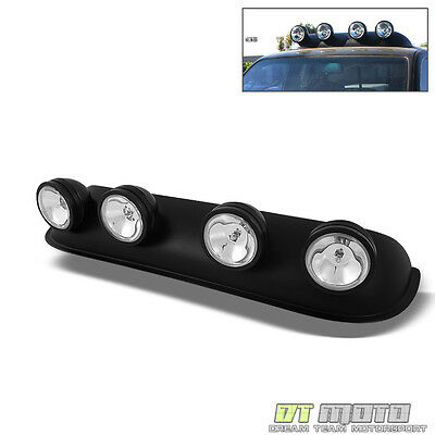 TRUCK PICKUP JEEP 4x4 OFF ROAD CLEAR ROOF TOP DRIVING FOG LIGHTS BAR w/ SWITCH