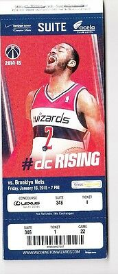 2014 WASHINGTON WIZARDS VS BROOKLYN NETS SUITE TICKET STUB 1/16 JOHN WALL