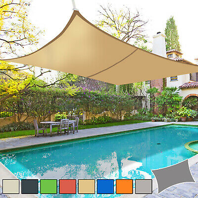 Sun Shade Sail Garden Patio Awning Canopy 98% UV Block Rectangle NEW