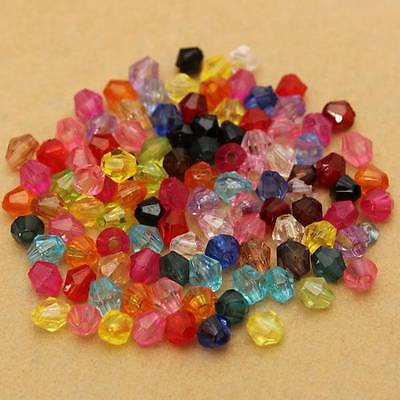 100-1000pcs Bulk Crystal Glass Mix Bead Spacer Faceted Bicone Jewelry Making