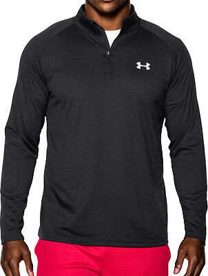 Under Armour Tech 1/4 Zip Long Sleeve Mens Running Top - Black