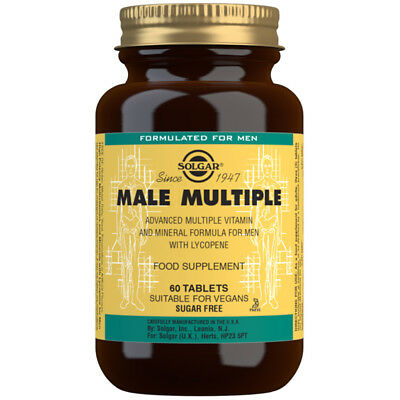 Solgar Male Multiple Tablets Choice of Supplys One Bottle Supplied