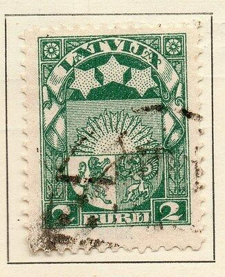 Latvia 1921 Early Issue Fine Used 2r. 120856