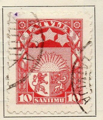Latvia 1923 Early Issue Fine Used 10s. 120867