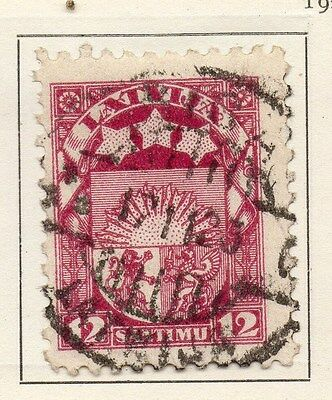 Latvia 1923 Early Issue Fine Used 12s. 120868