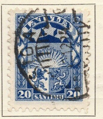 Latvia 1923 Early Issue Fine Used 20s. 120870