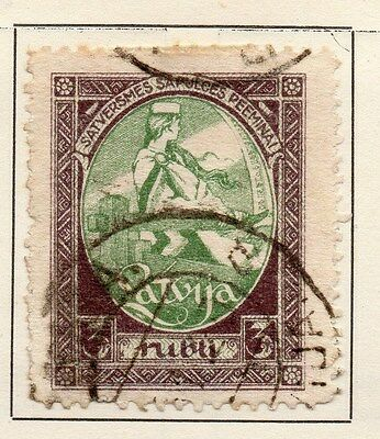 Latvia 1920 Early Issue Fine Used 3r. 120878