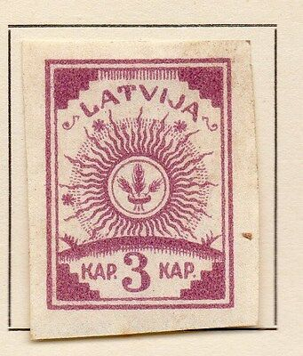 Latvia 1919 Early Issue Fine Mint Hinged 3k. 120898
