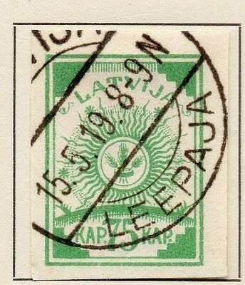 Latvia 1919 Early Issue Fine Used 75k. 120907
