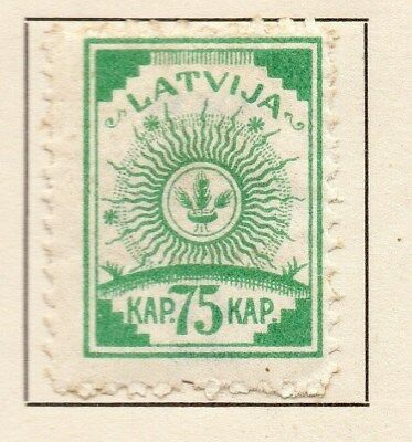 Latvia 1919 Early Issue Fine Mint Hinged 75k. 120911