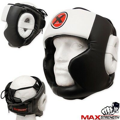 Boxing Head Guard Helmet MMA Martial Arts Headguard Face Protector Kick Training