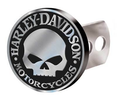 Harley-Davidson Hitch Cover, Willie G Skull Hitch Plug, Brushed Silver 2283