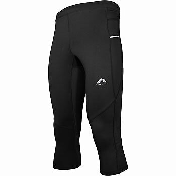 More Mile More-Tech Mens 3/4 Capri Running Tights Leggings Black