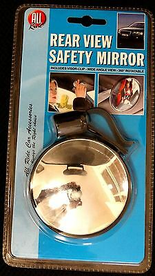 Rear View Safety Mirror 360 Degrees Rotatable Wide Angle Visor Clip Baby Safety