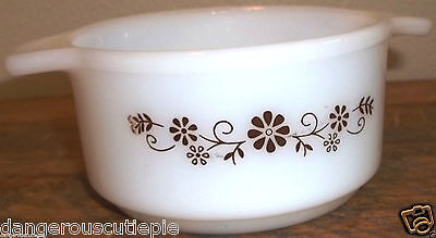 DynaWare Pyr-O-Rey Daisy 1 Pint Dish Microwavable StoveTop Safe EUC No Damage