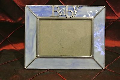 Blue Stain Glass Picture Frame Great Decor Piece