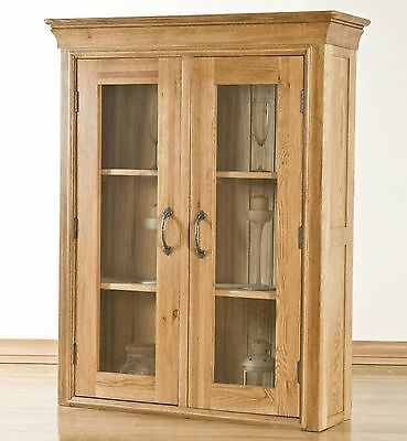 Lourdes solid oak furniture small dining room china display cabinet dresser