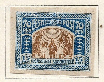 Estonia 1920 Early Issue Fine Mint Hinged 70p. 121263