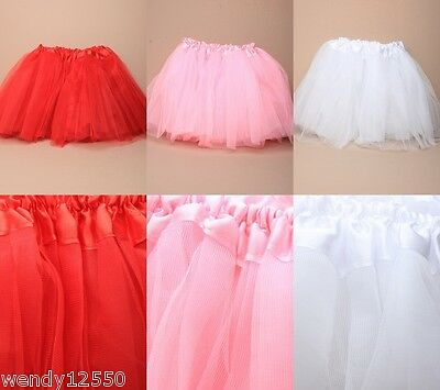 "Pack Of 3 Child's Net Tutu Triple Layer 10-18"" Dance, Fancy Dress, Ballet, Fairy"
