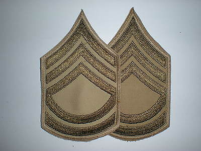 Us Army Wwii Summer Sergeant First Class Stripes -Original-- 1 Pair