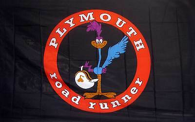 Road Runner Plymouth Black Red Ring 3x5 Flag Sold By Neoplex