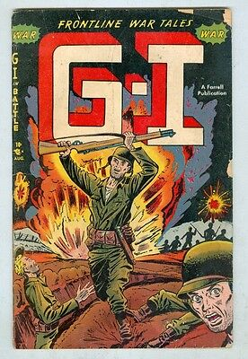 GI in Battle #1 August 1952 G First issue