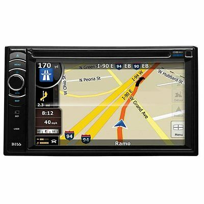 "Boss Bv9386nv Automobile Audio/Video GPS Navigation System - 6.2"" - AM Tuner, FM"