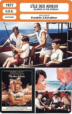 Fiche Cinéma. Movie Card. L'île des adieux / Islands in the Stream (USA) 1977