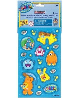 4 - Webkinz Assorted Stickers Party Favors Game Prizes Gift Baskets B65