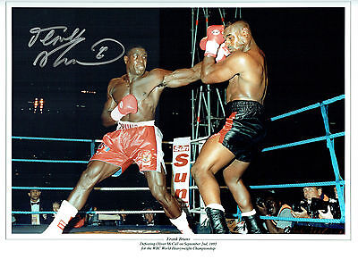 Frank BRUNO Signed Autograph Boxing Massive 16x12 Montage Photo AFTAL COA
