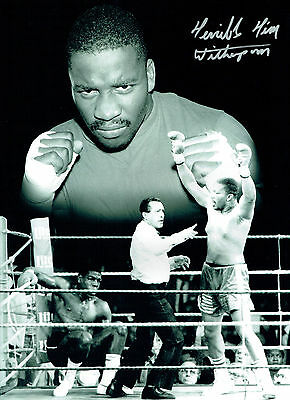 Terrible Tim WITHERSPOON Signed Autograph Boxing 16x12 Montage Photo AFTAL COA