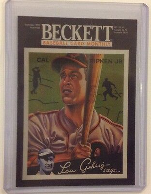 CAL RIPKEN JR #ed/250 Made Orioles Lou Gehrig Says 2014 national Beckett Covers