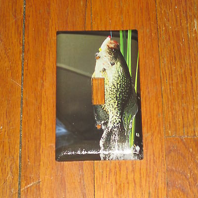Native Lake Crappie Wild Game Fish Light Switch Cover Plate