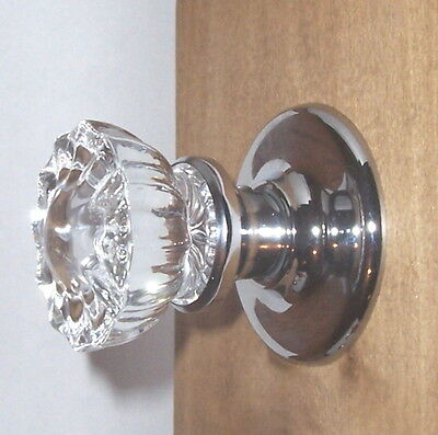 Reproduction Crystal Door Knob Package: 2-Passage + 1-Privacy in Polished Chrome • CAD $288.40