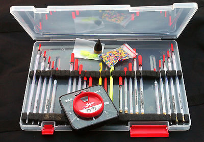 Max Performance Float box & clear waggler & Dinsmore Shot  carp/course fishing