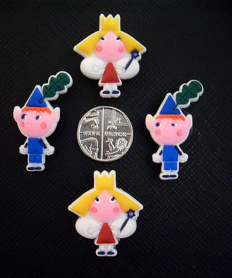 4 x Ben & Holly's Little Kingdom Shoe Charms For Crocs, Jibbitz, Wristbands