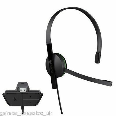Official Xbox One Black Headset Mic! Microsoft Chat Genuine